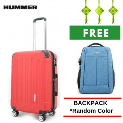 "HUMMER ABS Skycab 3 Colour Large Size 28"" with FREE 16.5"" Laptop Backpack"