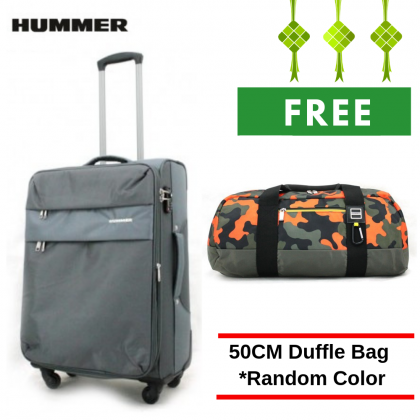 "HUMMER Soft Luggage 3 Colours Medium Size 24"" with FREE Duffle Bag"