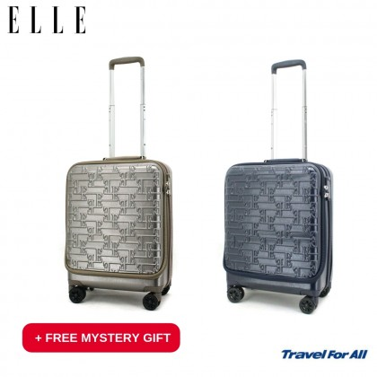"18"" ELLE Polycarbonate Waterproof Hard Case Trolley (83117518) +Free Mystery Gift"