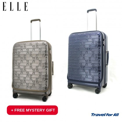 "26"" ELLE Polycarbonate Waterproof Hard Case Trolley (83117526) +Free Mystery Gift"
