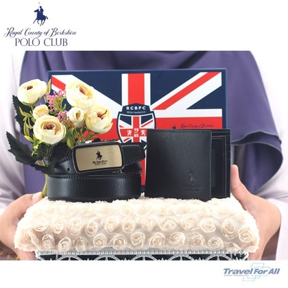 Set Hantaran RCB POLO (Flip Wallet & 4CM Auto Belt)