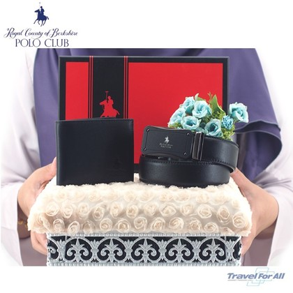 Set Hantaran RCB POLO (Flip Wallet & 3.3CM Pin Belt)
