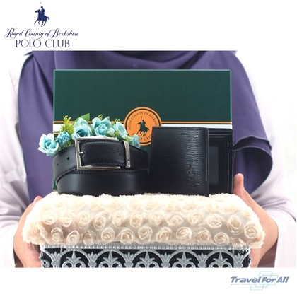 Set Hantaran RCB POLO (Flip Wallet & 1.3CM Fancy Belt)