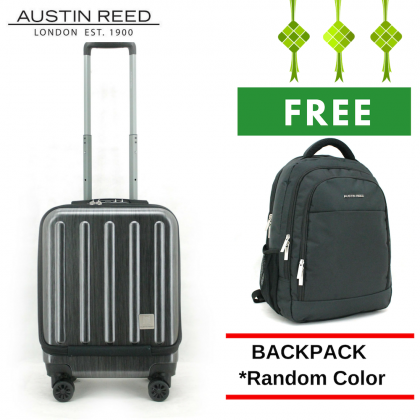 "Austin Reed Luggage PC Cabin 18"" (Black/ Blue) with FREE 17.5"" Laptop Backpack"