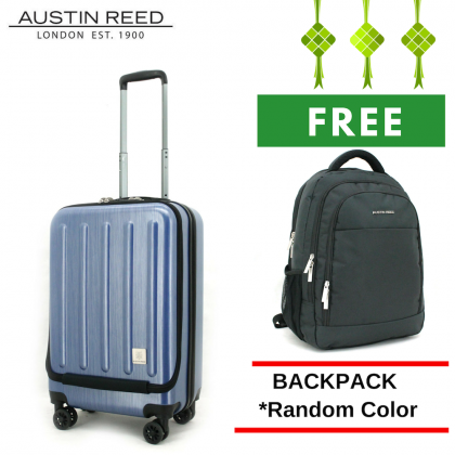 "Austin Reed Luggage PC Medium 21"" (Black/ Blue) with FREE 17.5"" Laptop Backpack"