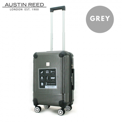 """Austin Reed Luggage ABS Cabin 20"""" (Grey/Silver) with FREE 19"""" Laptop Backpack"""