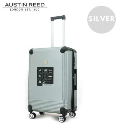 """Austin Reed Luggage ABS Medium 24"""" (Grey/Silver) with FREE 19"""" Laptop Backpack"""