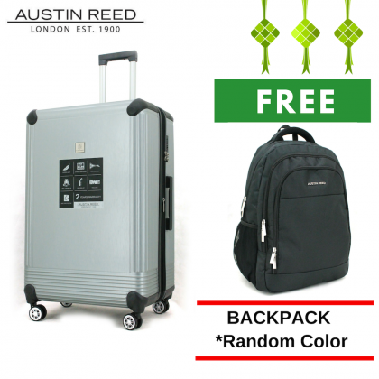 "Austin Reed Luggage ABS Large 28"" (Grey/Silver) with FREE 19"" Laptop Backpack"