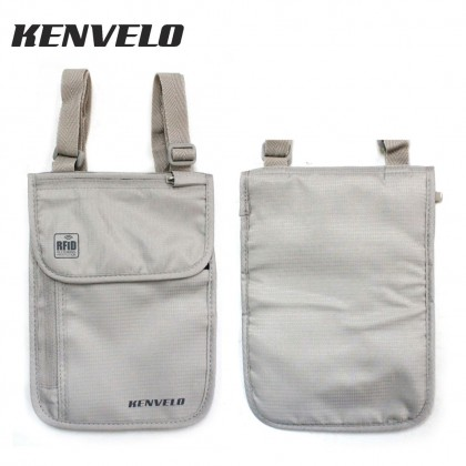 KENVELO ANTI-THEFT RFID BLOCKING TRAVEL NECK POUCH