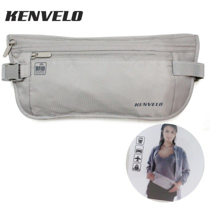 KENVELO ANTI-THEFT RFID BLOCKING TRAVEL WAIST POUCH