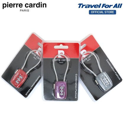 Pierre Cardin 3 Dial Digit Combination Suitcase Luggage TSA Wire Padlock