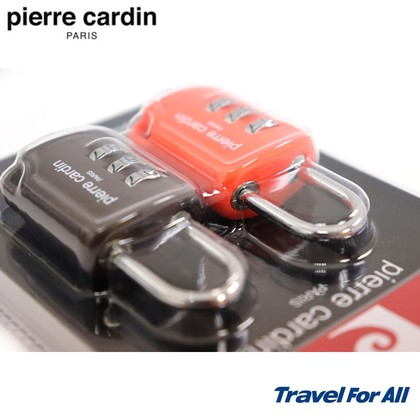 Pierre Cardin 3 Dial Digit Combination Suitcase Luggage Pad Lock (Pack Of 2, Random Colour)