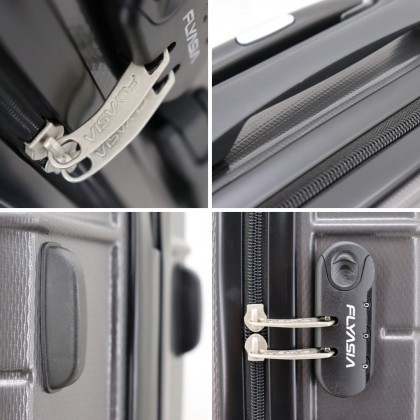 FLYASIA Luggage Cabin Size Combo Set (Size 20 inch+20 inch, Dark Grey) with free mystery gift