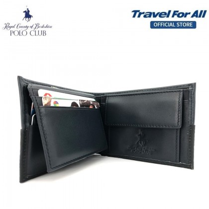 RCB Polo Club Men's Leather Flip Wallet (15322107)