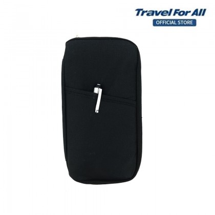 Travel For All Travel Pouch and Passport Holder  (Black)