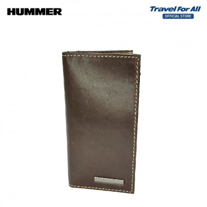 HUMMER LEATHER CASUAL BROWN LONG WALLET